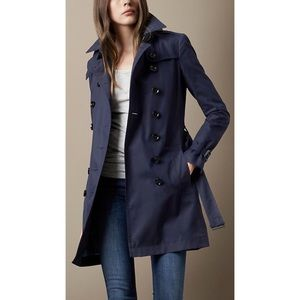 Burberry Brit Trench Coat Navy Woman✨